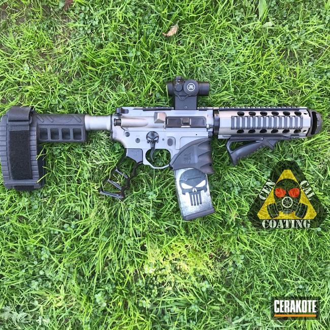 Cerakoted: Punisher,Graphite Black H-146,Tungsten H-237,Tactical Rifle,Sig Sauer
