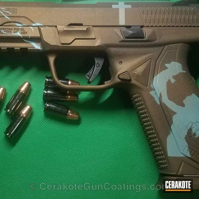 Cerakoted: Robin's Egg Blue H-175,Ruger,Burnt Bronze H-148,Pistol,Handguns