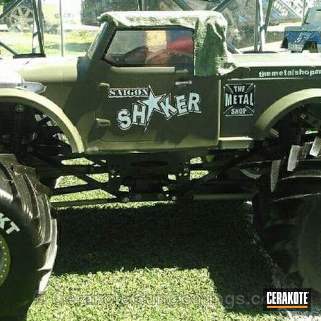 Cerakoted: Mil Spec O.D. Green H-240,More Than Guns,Monster Truck