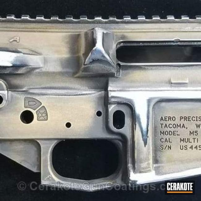 Cerakoted: Aero Precision,Upper / Lower,Graphite Black H-146,Distressed,AR-10,Burnt Bronze H-148