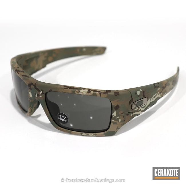 Cerakoted: Sunglasses,Oakley,Graphite Black H-146,Desert Sand H-199,Eyewear,More Than Guns,MAGPUL® O.D. GREEN H-232,Flat Dark Earth H-265
