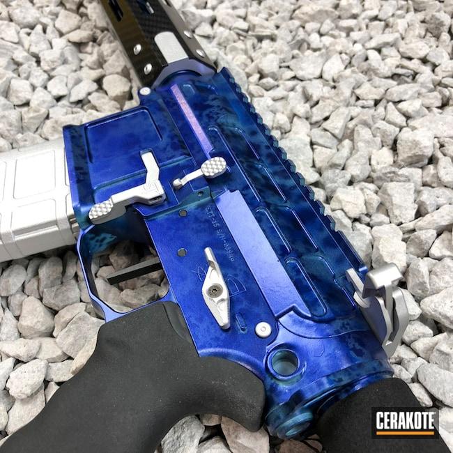 Cerakoted: Rifle,Robin's Egg Blue H-175,NRA Blue H-171,Carbon Fiber,Socom Blue H-245,Supersonic,Tactical Rifle,Satin Aluminum H-151,GunCandy,AR-15