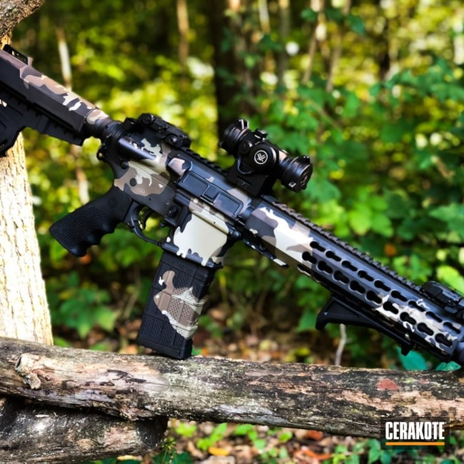 Cerakoted: MultiCam,Graphite Black H-146,Patriot Brown H-226,Tactical Rifle