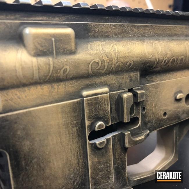 Cerakoted: Upper / Lower,Join Or Die,AR Pistol,Receiver,Graphite Black H-146,Desert Sand H-199,We the people,Gold H-122,AR-15