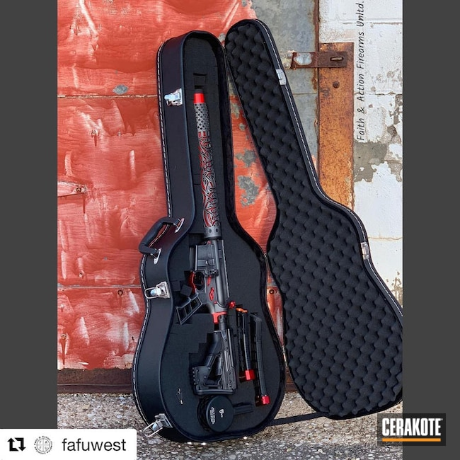 Cerakoted: Battleworn,Guitar Case,Graphite Black H-146,Two Tone,Colt,USMC Red H-167,Tungsten H-237,Tactical Rifle,We the people,AR-15