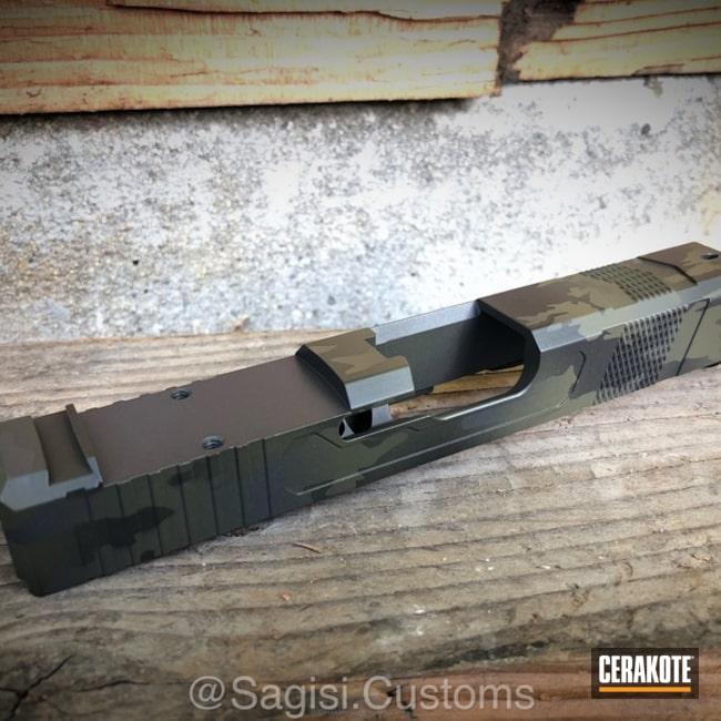 Cerakoted: Sniper Grey H-234,MultiCam,Graphite Black H-146,Mil Spec O.D. Green H-240,Glock,Slide