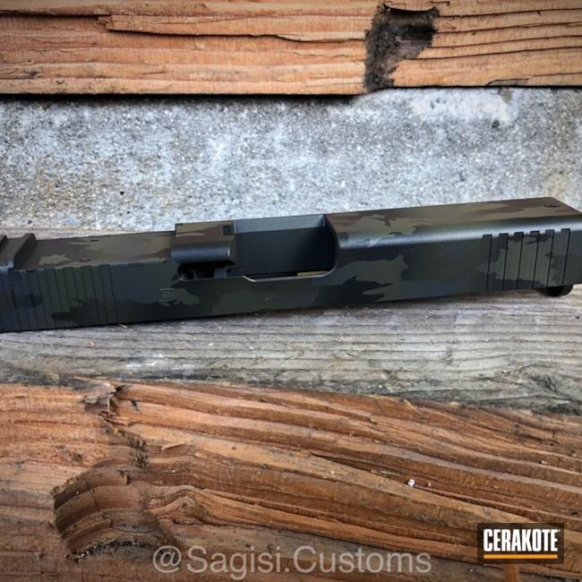 Cerakoted: Sniper Grey H-234,Graphite Black H-146,Mil Spec O.D. Green H-240,Camo,Glock,Slide