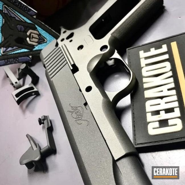 Cerakoted: Kimber 1911,.45 ACP,Kimber,Two Tone,Kimber Tactical Pro II,Tungsten H-237,Pistol,1911,EDC,Cobalt H-112