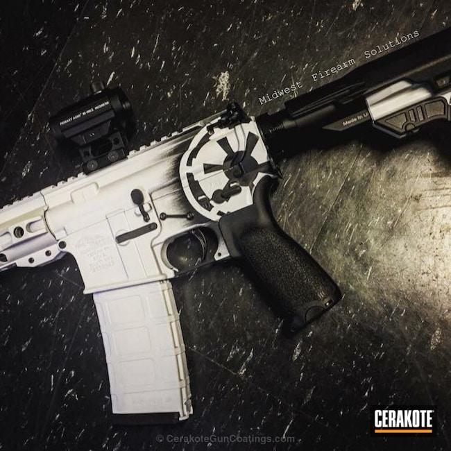 Cerakoted: Bright White H-140,Graphite Black H-146,Star Wars AR-15,Galactic Empire,Tactical Rifle,Star Wars Theme,Theme,Star Wars