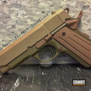 Cerakoted Two Toned Rock Island Armory Handgun