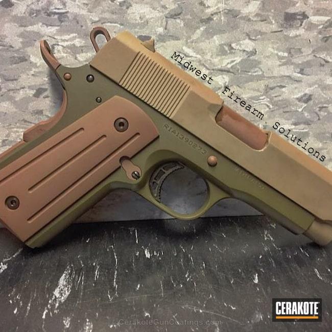 Cerakoted: Rock Island Armory 1911,Rock Island Armory,Patriot Brown H-226,Pistol,1911,MAGPUL® O.D. GREEN H-232