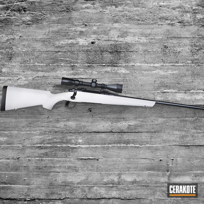 Remington Bolt Action Rifle done in H-136 Snow White