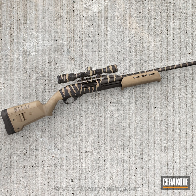 Remington 870 Shotgun with Cerakote Tiger Stripe Camo