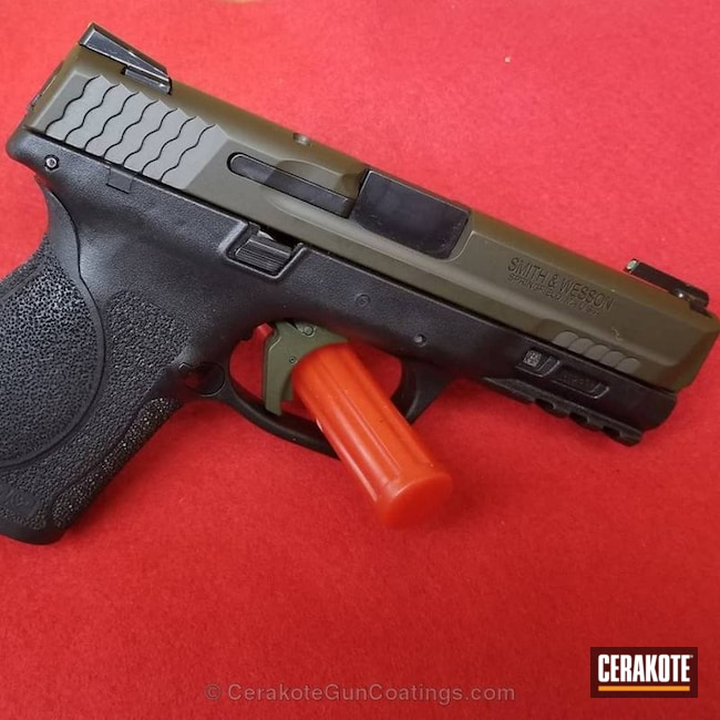 Cerakoted: Sniper Green H-229,Smith & Wesson,Smith & Wesson M&P,Pistol