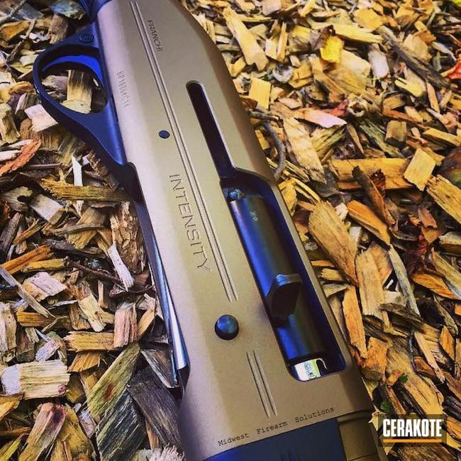 Cerakoted: Tactical Shotgun,Semi-Auto Shotgun,Shotgun,Graphite Black H-146,Franchi,Burnt Bronze H-148,Hunting Shotgun,Pump-action Shotgun