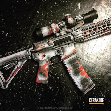 Cerakoted Bloodworn Zombie Themed Ar Pistol