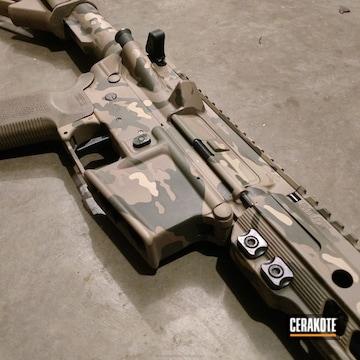 Cerakoted Tactical Rifle Done In A Cerakote Multicam Finish