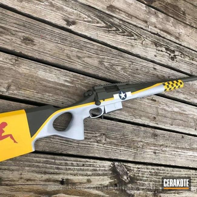 Cerakoted: Bolt Action Rifle,Corvette Yellow H-144,Snow White H-136,Bomber Theme,Satin Aluminum H-151,MAGPUL® O.D. GREEN H-232