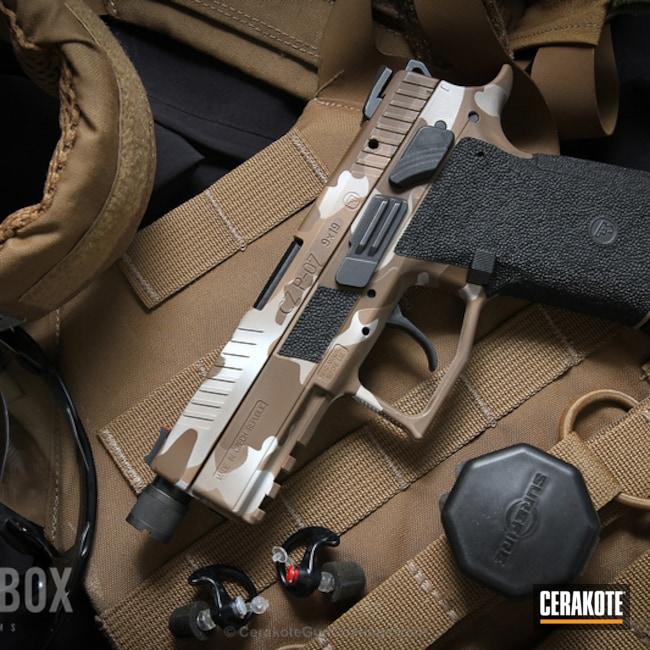Cerakoted: MAGPUL® FLAT DARK EARTH H-267,Graphite Black H-146,CZ P-07,Desert Sand H-199,Stippled,Camo,Pistol,CZ,GLOCK® FDE H-261