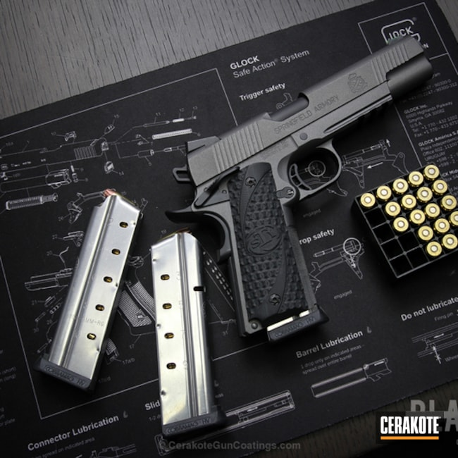 Cerakoted: Springfield 1911,Tungsten H-237,Pistol,Springfield Armory,1911