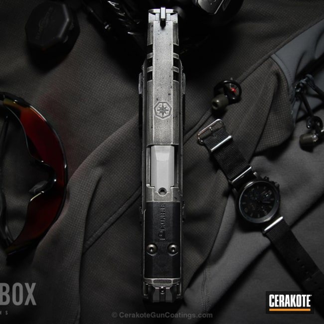 Cerakoted: Stainless H-152,Armor Black H-190,Pistol,Glock