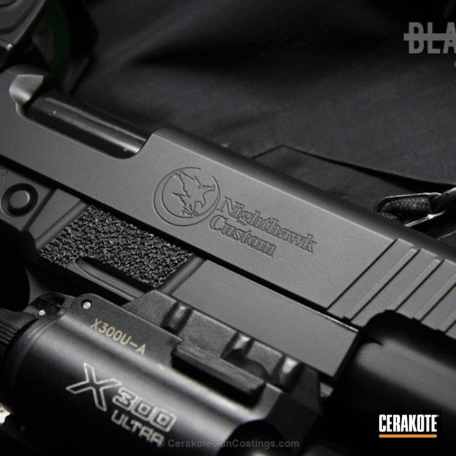 Cerakoted: Armor Black H-190,Pistol,Nighthawk Custom