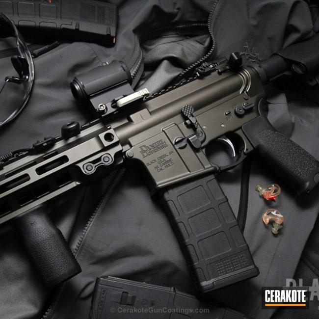 Cerakoted: Daniel Defense,Two Tone,Tactical Rifle,Midnight Bronze H-294