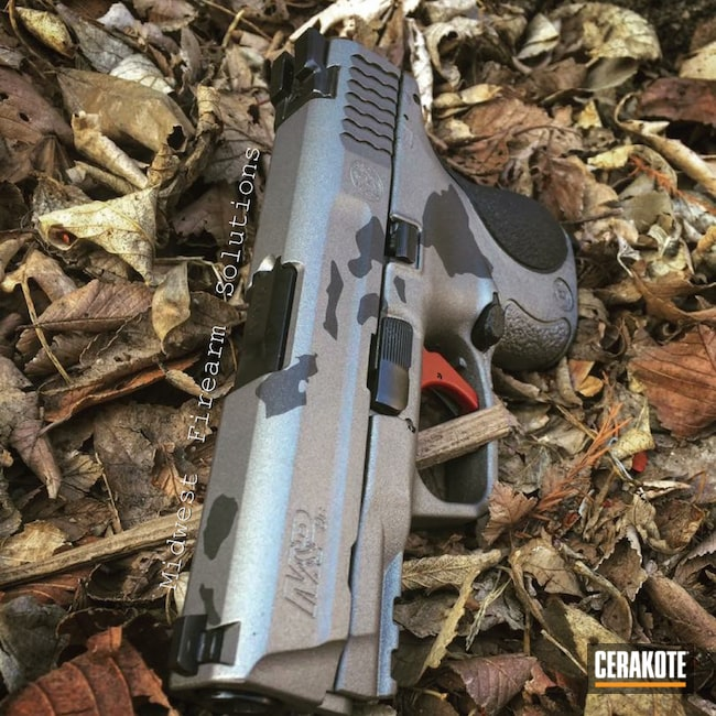 Cerakoted: Hawaii Theme,Hawaiian,Smith & Wesson,Smith & Wesson M&P,Armor Black H-190,Tactical Grey H-227,Smith & Wesson M&P Shield,Hawaii Islands
