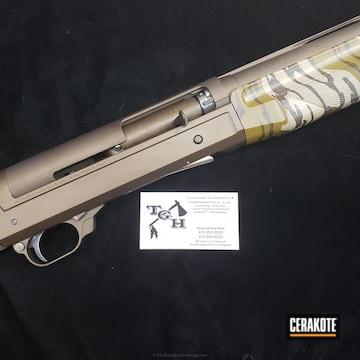 Cerakoted Benelli Super Black Eagle Shotgun Coated In H-294 Midnight Bronze