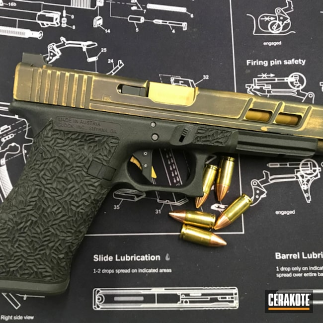 Armor Black and Gold on this Glock 17