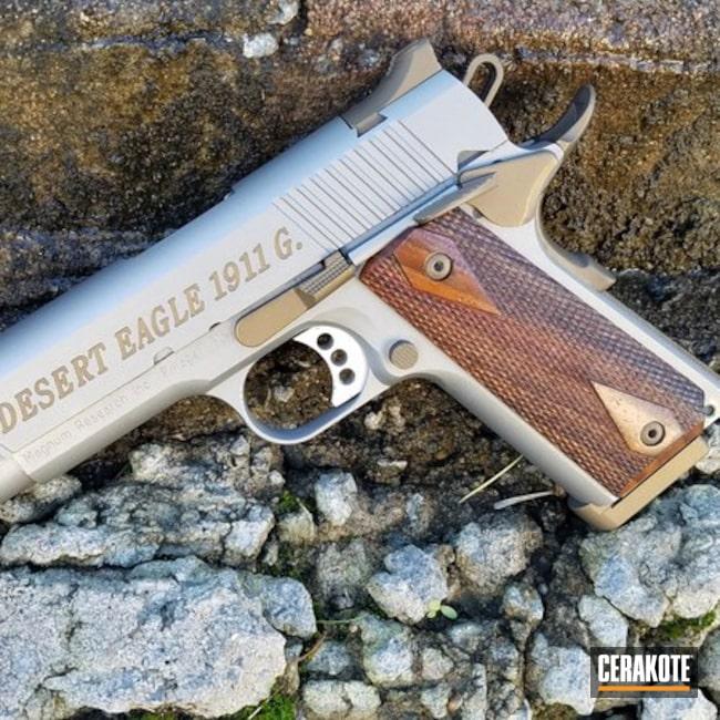 Cerakoted: Desert Eagle 1911,Burnt Bronze H-148,Titanium H-170,Pistol,1911