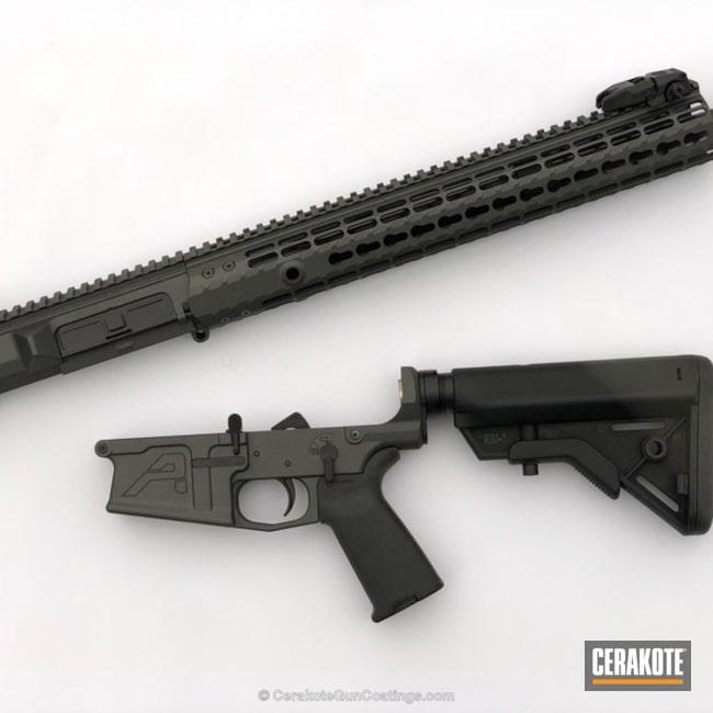 Cerakoted: Aero Precision,Graphite Black H-146,Tactical Rifle,Cobalt H-112