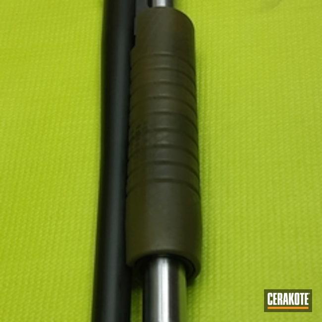 Cerakoted: Shotgun,Graphite Black H-146,Camo,Noveske Bazooka Green H-189,Pump-action Shotgun