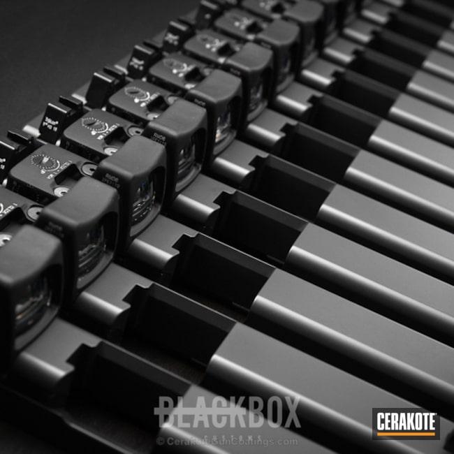 Cerakoted Cerakote Elite Smoke On These Glock Slides