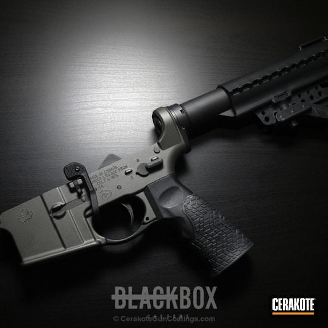 Cerakoted: Tungsten H-237,Tactical Rifle,Rainier Arms,MAGPUL® O.D. GREEN H-232