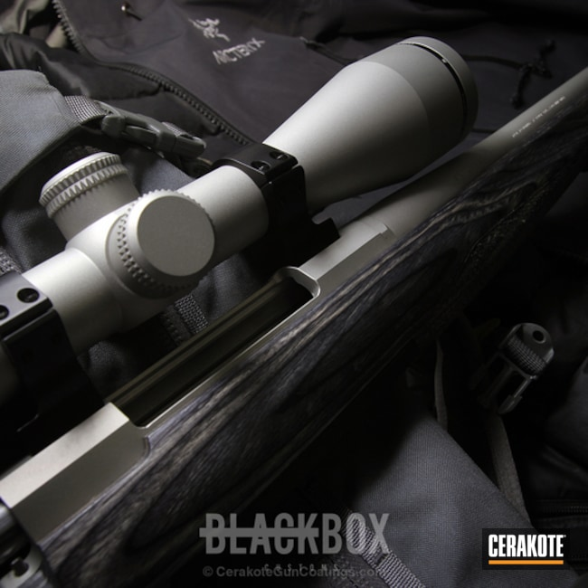 Cerakoted: Bolt Action Rifle,Solid Tone,Bright Nickel H-157