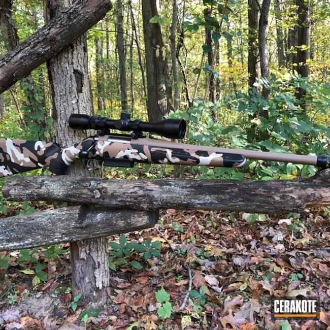 Cerakoted: Bolt Action Rifle,MultiCam,Mud Brown H-225,Graphite Black H-146,Custom Camo