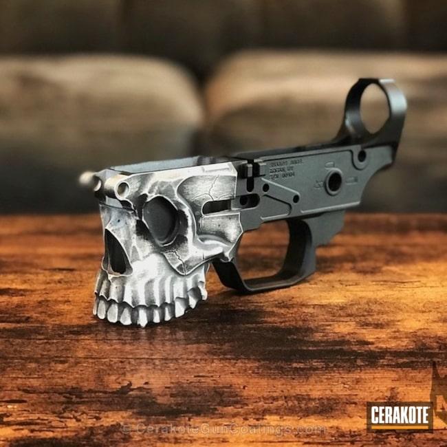 Cerakoted: War Torn,Skull,Spike's Tactical The Jack,Battleworn,Spike's Tactical,Snow White H-136,Graphite Black H-146,Distressed,Jack