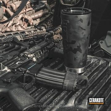 Cerakoted Coffee Mug In A Mad Black Multicam Finish