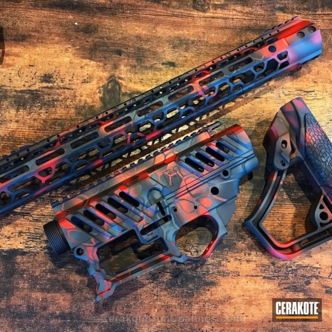 F1 Firearms AR-10 done in a MAD Dragon Camo