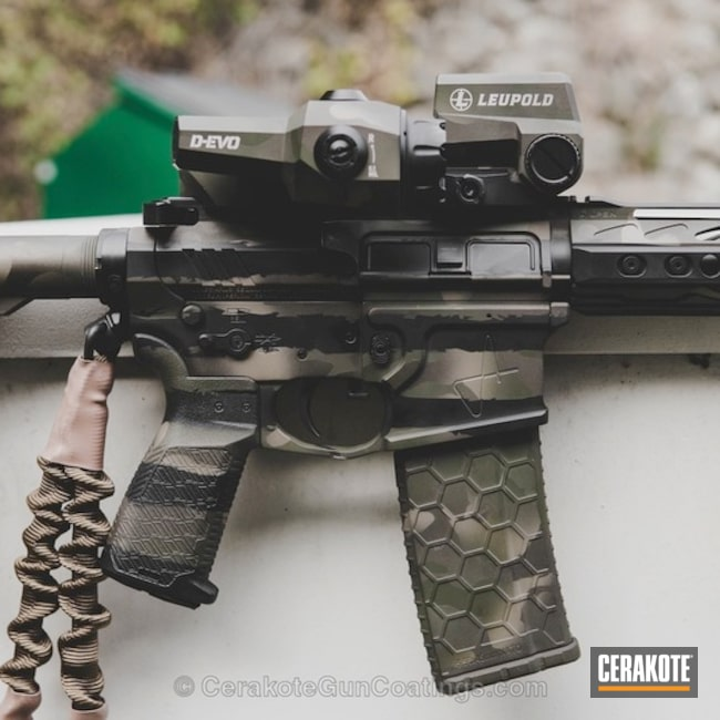 Tactical Rifle in a MAD Land Camo Finish
