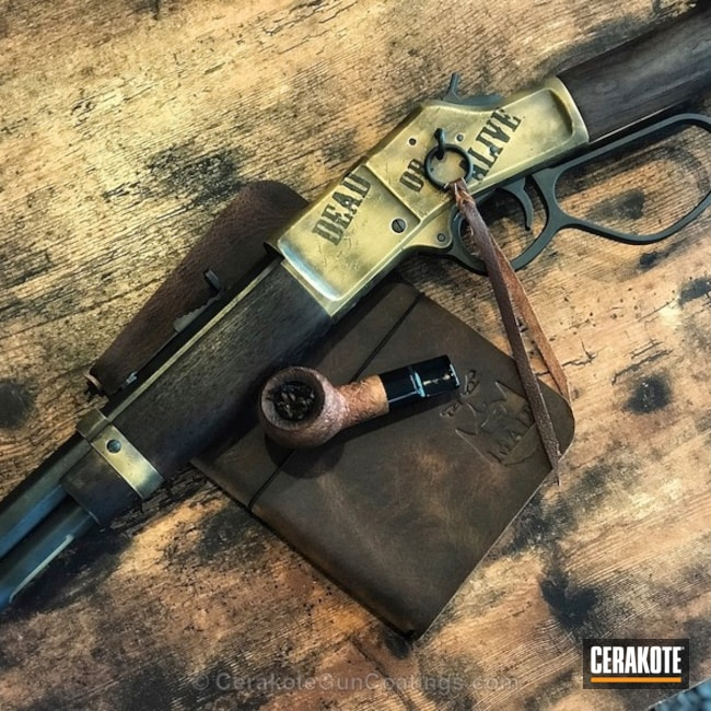 Cerakoted: War Torn,MAGPUL® FLAT DARK EARTH H-267,MAD Max,Graphite Black H-146,Henry,Distressed,Wanted,Patriot Brown H-226,Lever Action,Gold H-122,Sky Blue H-169