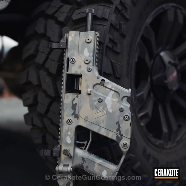Kriss Vector in a Cerakote MultiCam Finish