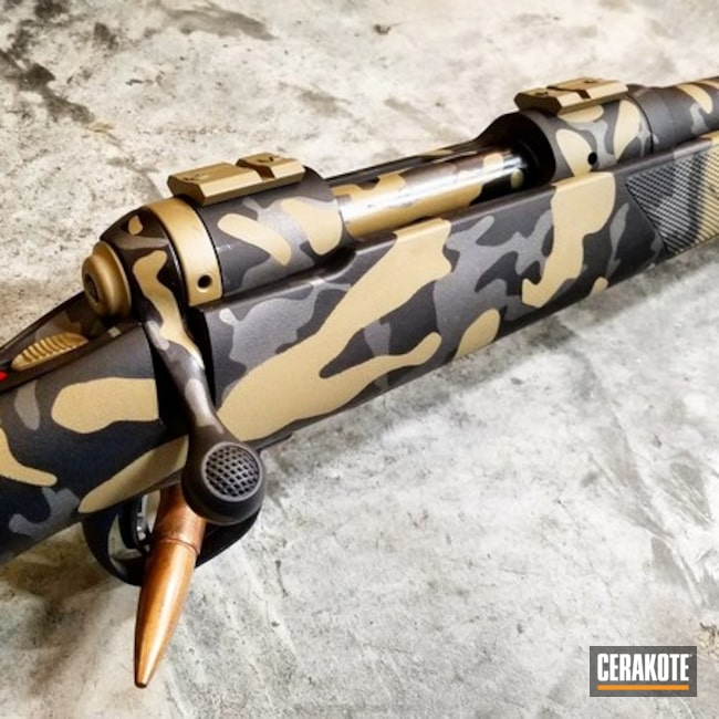 Savage Arms Bolt Action Rifle in a Custom Cerakote Camo