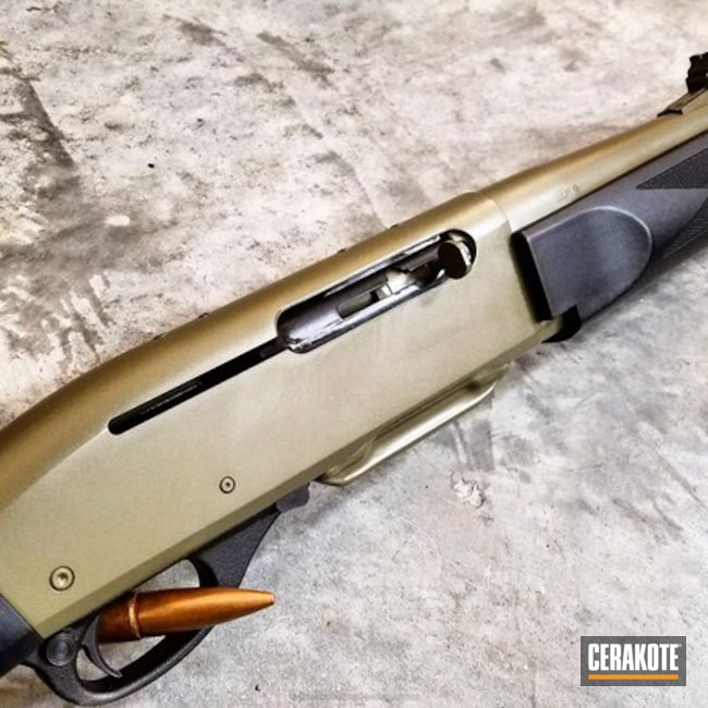Restored Remington Shotgun done in H-204 MultiCam Green