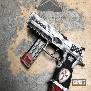 Cerakoted Custom Battleworn Knights Templar Sig Sauer P320 X5 Handgun