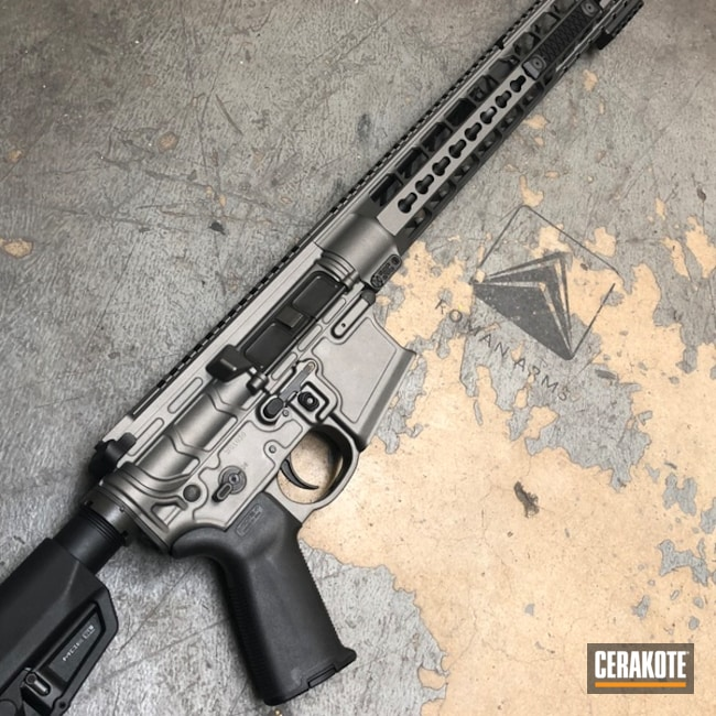 AR-15 Rifle in H-237 Tungsten
