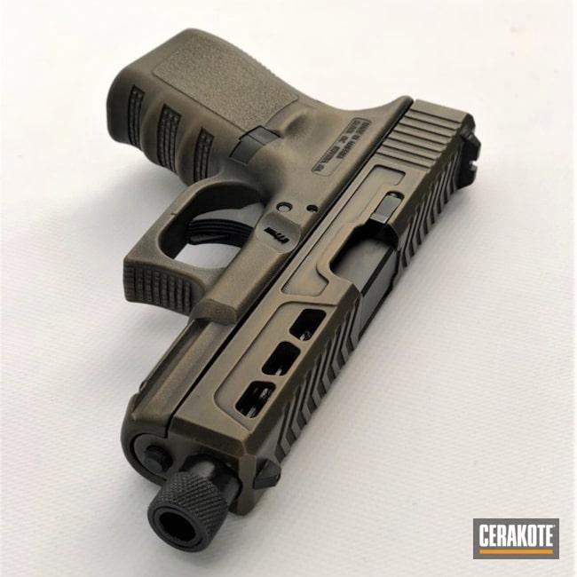 Cerakoted: Graphite Black H-146,Distressed,Burnt Bronze H-148,Pistol,Glock