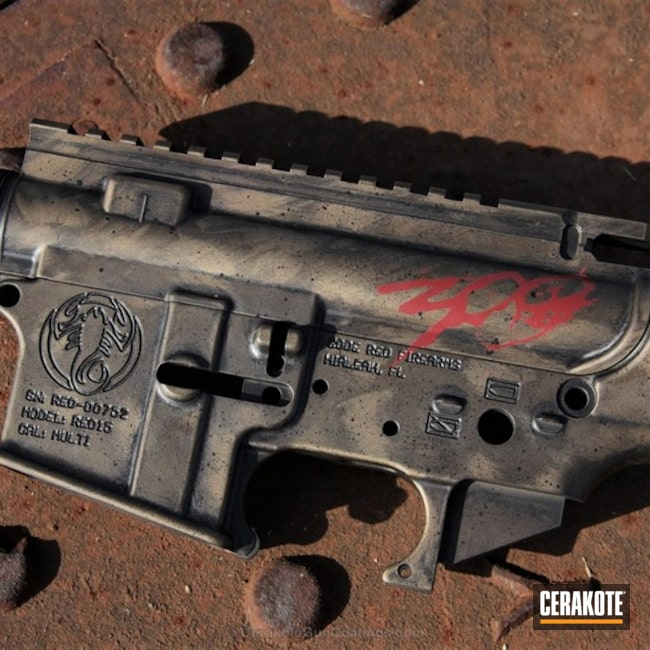 Cerakoted: Upper / Lower,300 Spartans,FIREHOUSE RED H-216,Graphite Black H-146,Burnt Bronze H-148,Code Red Firearms
