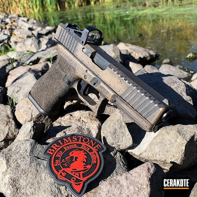 "Thumbnail image for project ""Battleworn Glock 17 in Graphite Black and Glock FDE"""